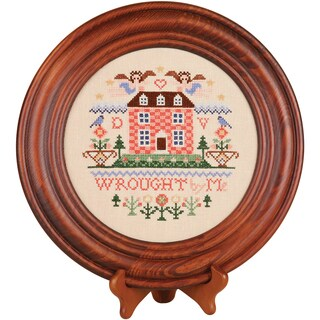 Mahogany Crown Plate 11.5in Round Design Area 8in Round