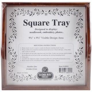 Mahogany Small Square Tray 10inX10in Design Area 9.5inX9.5in