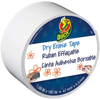 Dry Erase Duck Tape 1.88inX15yd White|https://ak1.ostkcdn.com/images/products/10293120/P17407326.jpg?impolicy=medium