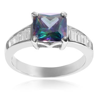 Journee Collection Sterling Silver Square Cubic Zirconia Ring