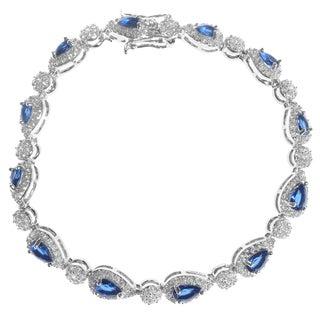Journee Collection Sterling Silver Teardrop Cubic Zirconia Bracelet