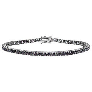 Journee Collection Sterling Silver Mystic Cubic Zirconia Tennis Bracelet