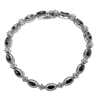 Journee Collection Sterling Silver Mystic Cubic Zirconia Bracelet