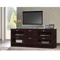 Baxton Studio Tippett 63-in. Dark Brown Wood TV Cabinet