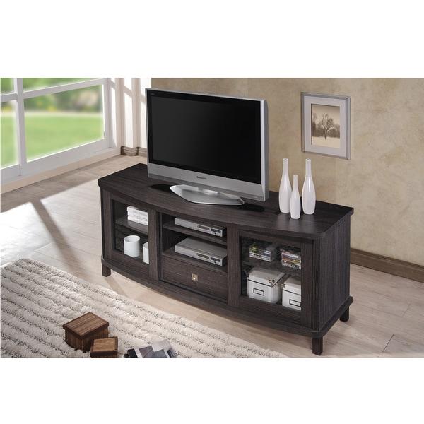 Clay Alder Home Hanalei 60 Inch Dark Brown Wood TV Cabinet