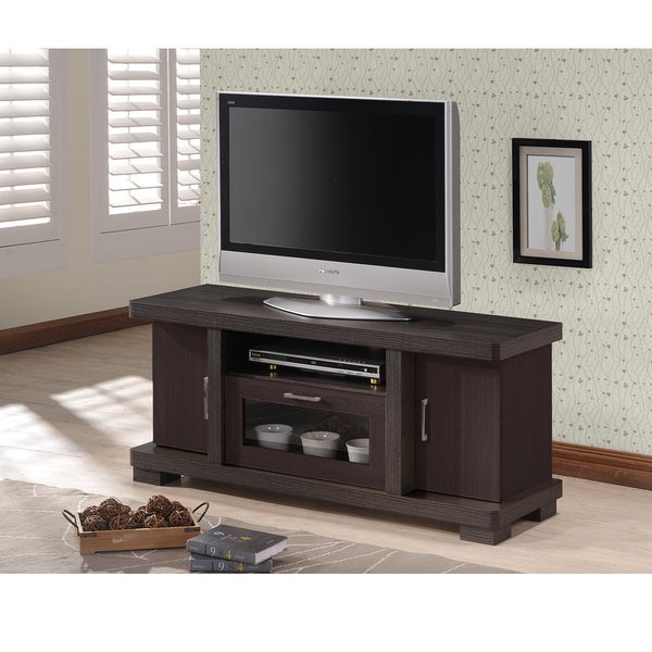 Superieur Copper Grove Carson Contemporary 47 Inch Dark Brown Wood TV Cabinet With 2  Doors