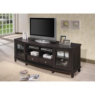 Porch & Den Hanalei Contemporary 70-Inch Dark Brown Wood TV Cabinet
