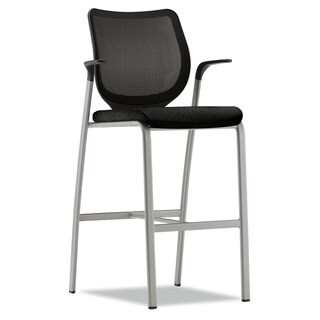 HON Nucleus Series Black Cafe-Height Stool