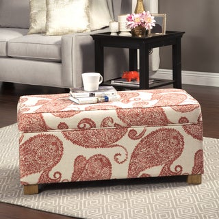 HomePop Henna Large Decorative Storage Ottoman