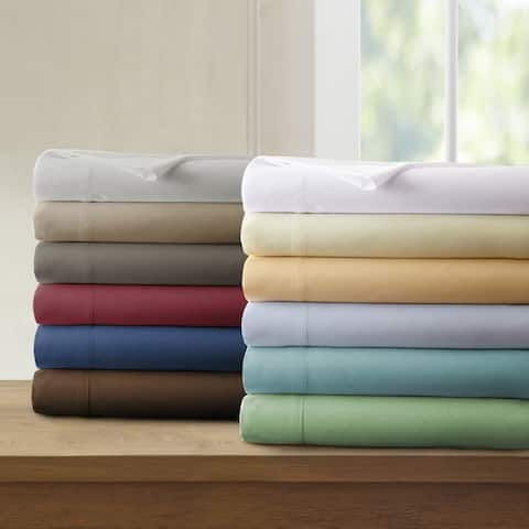 Amrapur Overseas Microfiber 4-piece Solid Bed Sheet Set