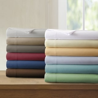 Amrapur Overseas Microfiber 4-piece Solid Sheet Set