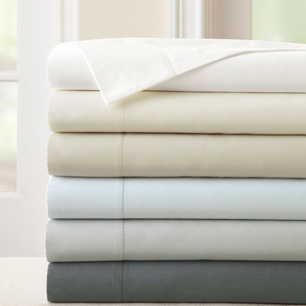 Amrapur Overseas 400 Thread Count 100-percent Cotton 4-piece Sheet Set with Single Hemstitch