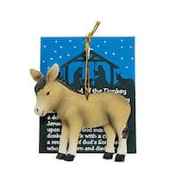 Legend of The Donkey' Christmas Ornaments