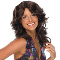 Brown Feathered Brown Wig