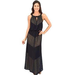 R&M Richards Meitered Maxi Dress
