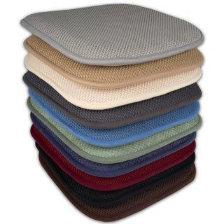 16x16 Memory Foam Chair Pad/Seat Cushion with Non-Slip Backing (2 or 4 Pack) - 16 X 16