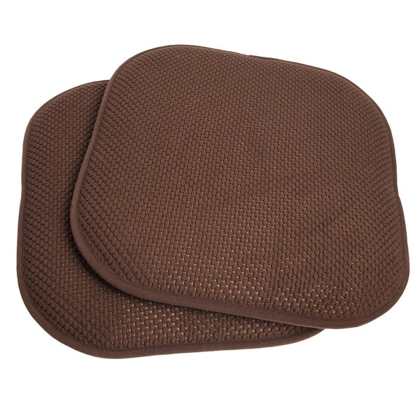 Delightful 16x16 Memory Foam Chair Pad/Seat Cushion With Non Slip Backing (2 Or 4  Pack)   Free Shipping On Orders Over $45   Overstock.com   17409230
