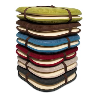16x16 Memory Foam Chair Pad/Seat Cushion with Non-Slip Backing (2 or 4 Pack)
