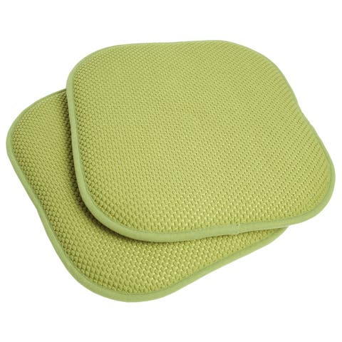 16x16 Memory Foam Non-slip Chair Pad Seat Cushion Sets - 16 X 16