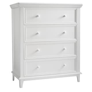 Kolcraft 4-drawer Transitional White Dresser