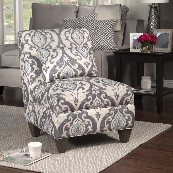 Fantastic Shop Homepop Blue Slate Large Accent Chair On Sale Free Machost Co Dining Chair Design Ideas Machostcouk