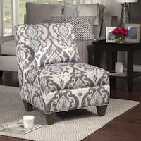 HomePop Blue Slate Large Accent Chair