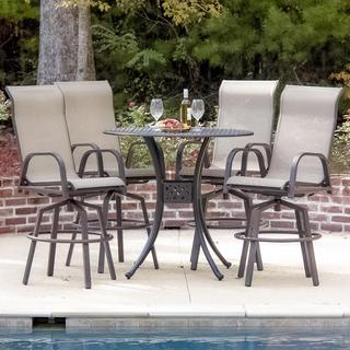 Madison Bay 4-person Sling Patio Bar Set