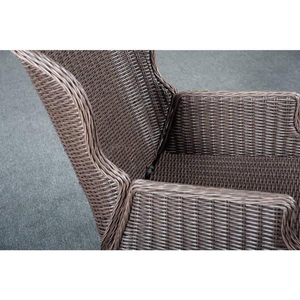 Outstanding Shop Cobana All Weather Resin Rattan Wicker Recliner Chair Ibusinesslaw Wood Chair Design Ideas Ibusinesslaworg