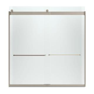 Kohler Levity 59-5/8 inches W x 62 inches H Frameless Bypass Tub/Shower Door with Towel Bar