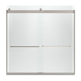 Kohler Levity 59-5/8 inches W x 59-3/4 inches H Frameless Bypass Tub/Shower Door with Crystal Clear Glass a