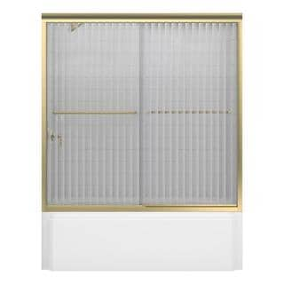 Kohler Fluence 60 inches x 58-5/16 inches Frameless Bypass Tub/Shower Door with Opaque Glass