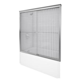 Kohler Fluence 57 inches x 55-3/4 inches Frameless Bypass Shower Door with Falling Lines Glass