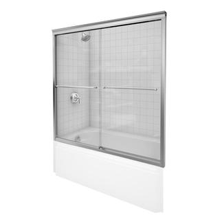Kohler Fluence 57 inches x 55-3/4 inches Frameless Bypass Tub/Shower Door with Tempered Glass