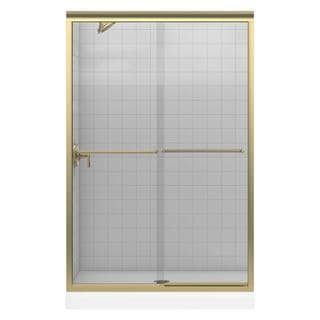 Kohler Fluence 47-5/8 inches x 70-5/16 inches Frameless Bypass Shower Door with Clear Glass