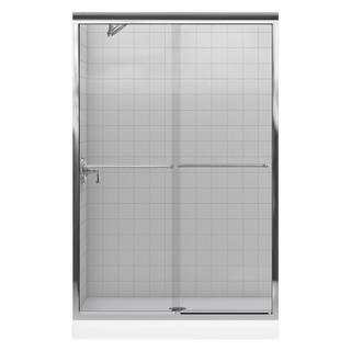 Kohler Fluence 43 inches W x 70 inches H Frameless Bypass Shower Door in Bright Polished Silver