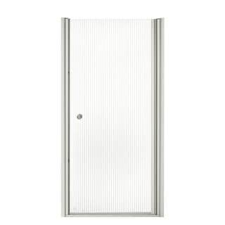 Kohler Fluence 34 inches x 65-1/2 inches Frameless Pivot Shower Door with Falling Lines Glass