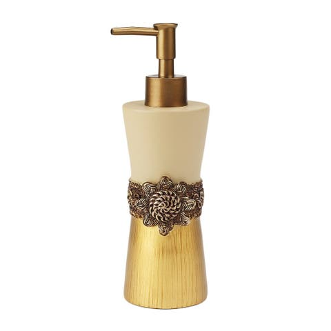Braided Medallion Lotion Pump - Gold
