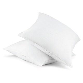 Cotton Euro Square 28 x 28 Down Alternative Pillow (Set of 2)