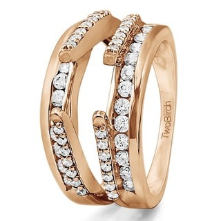 14k Gold 1/2ct TDW Diamond Combination Cathedral and Classic Ring Guard (G-H, I2-I3)