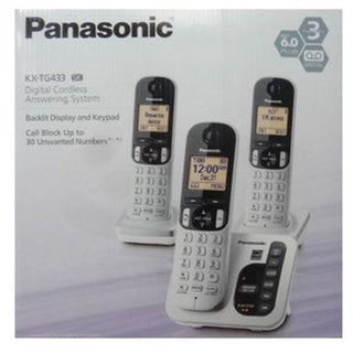Panasonic KX-TGC220S DECT 6.0 Cordless Phone System w// Call Block /& Silent Mode