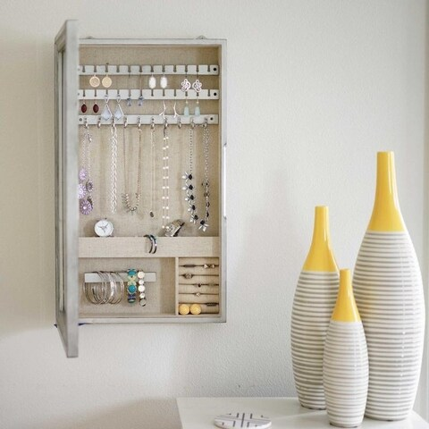 Hives & Honey Wall Hanging Jewelry Storage Mirror