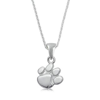 Clemson Sterling Silver Charm Necklace