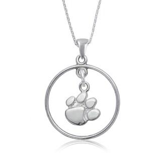 Clemson Sterling Silver Open Drop Necklace