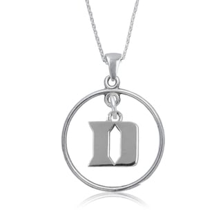 Duke Sterling Silver Open Drop Necklace
