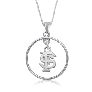 Florida State Sterling Silver Open Drop Necklace