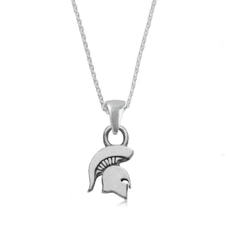 Michigan State Sterling Silver Charm Necklace