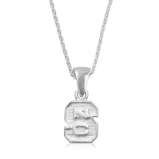 NC State Sterling Silver Charm Necklace