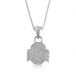 Ohio State Sterling Silver Charm Necklace