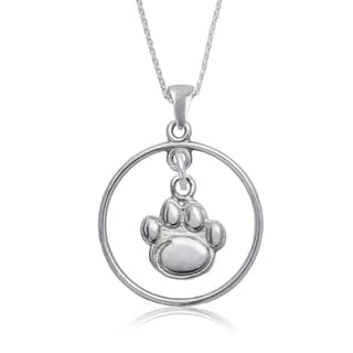 Penn State Sterling Silver Open Drop Necklace