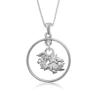 South Carolina Sterling Silver Open Drop Necklace